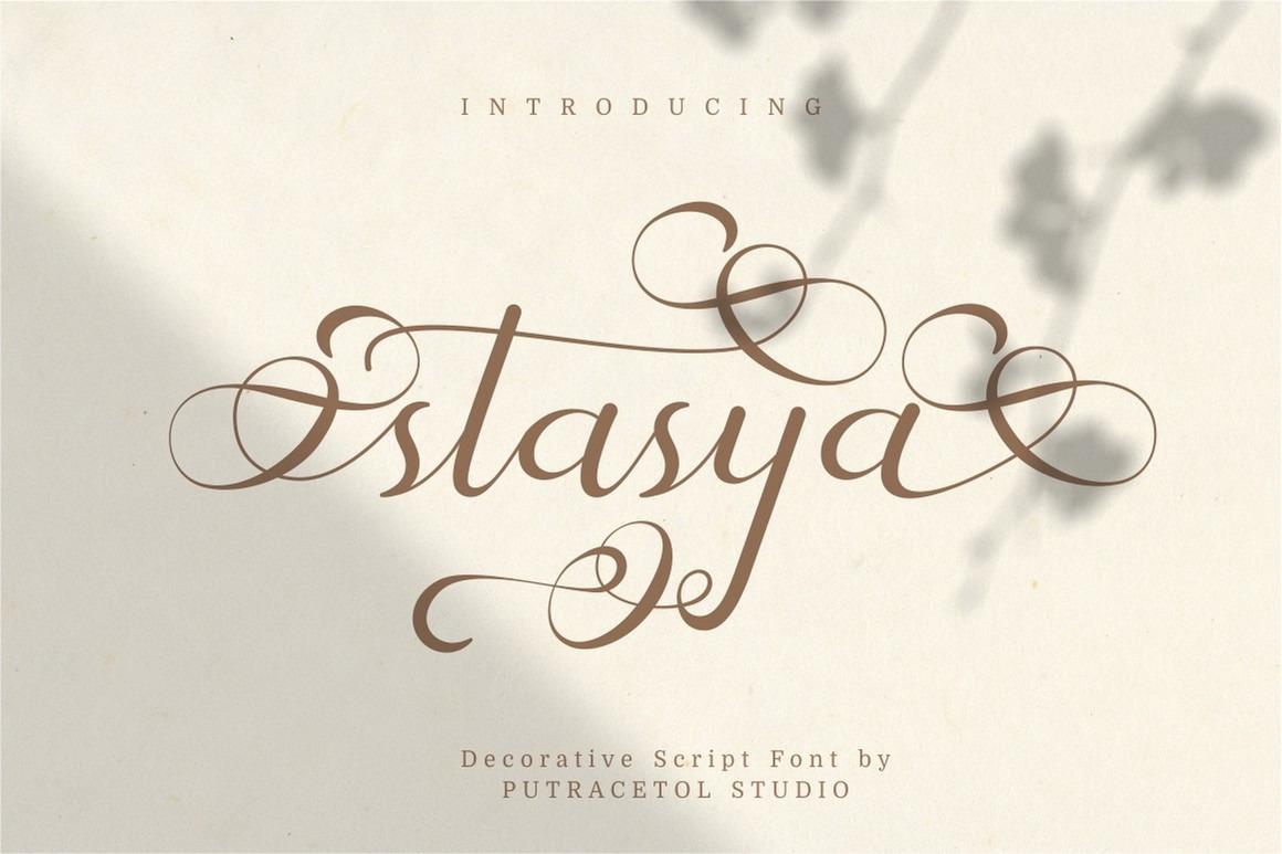 Stasya - Decorative Script Font