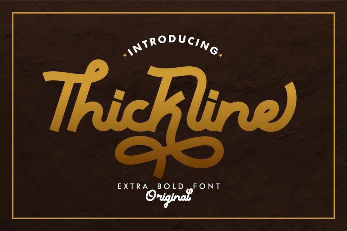 Thickline - Extra Bold Monoline Font