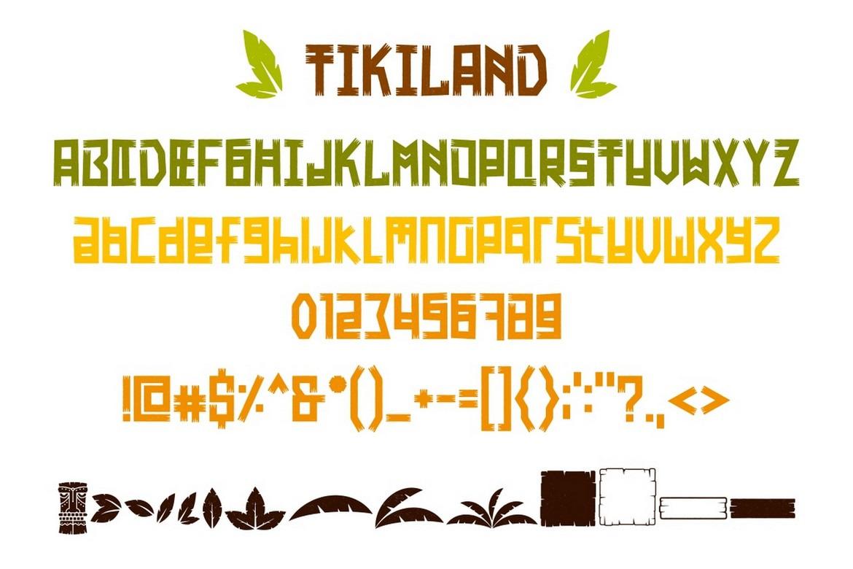 Tikiland - Fun And Unique Display Font