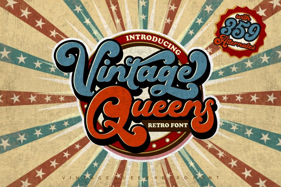 Vintage Queens - Vintage Bold Script Font