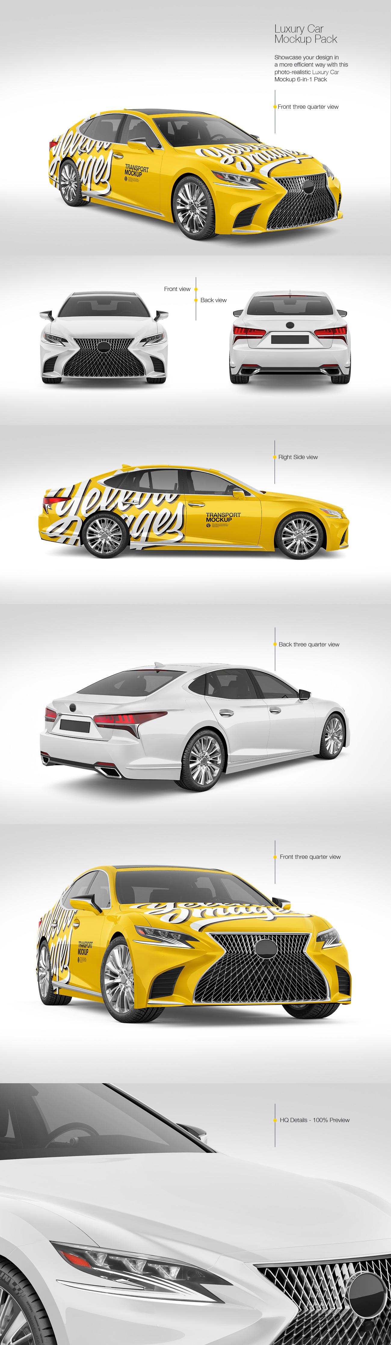 Luxury Car Mockup Pack