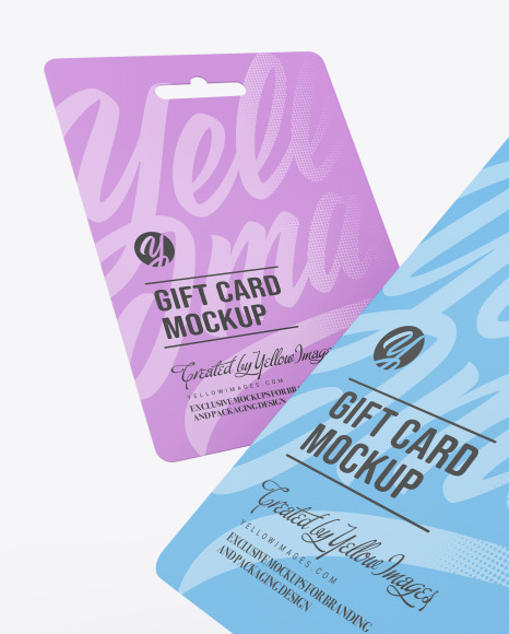 2 Gift Cards Mockup