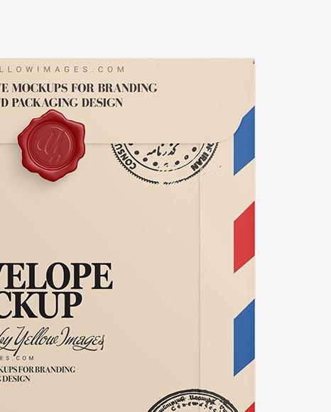 A4 Paper Envelop Mockup