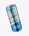 330ml Metallic Drink Can Mockup