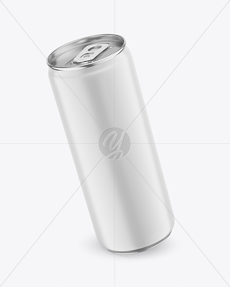 330ml Metallic Drink Can With Matte Finish Mockup