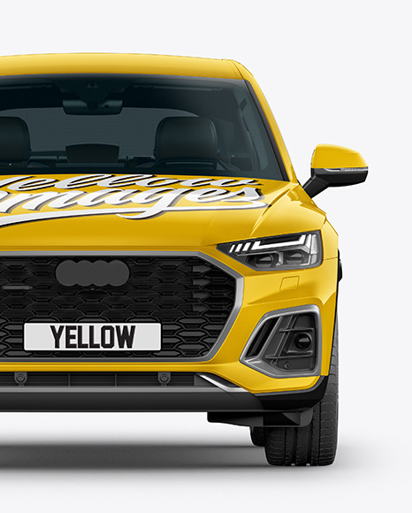 Crossover SUV Mockup – Front View
