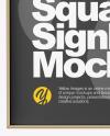 Metallic Square Signboard Mockup
