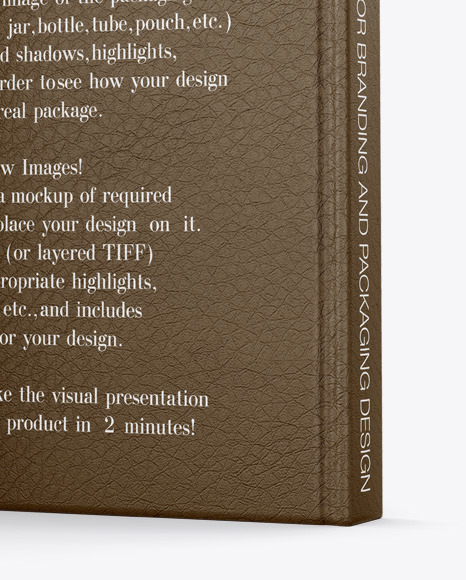 Hardcover Book w/ Leather Cover Mockup