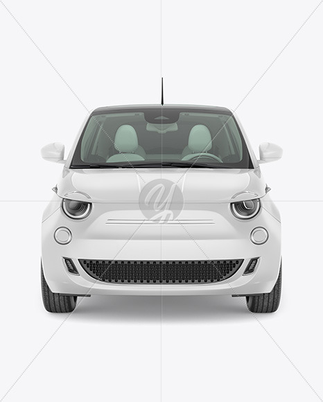 EV Compact Car Mockup - Front View - Yellowimages Mockups