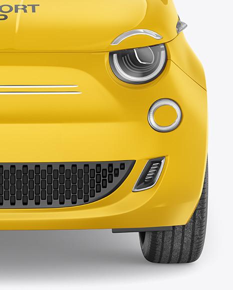 EV Compact Car Mockup - Front View