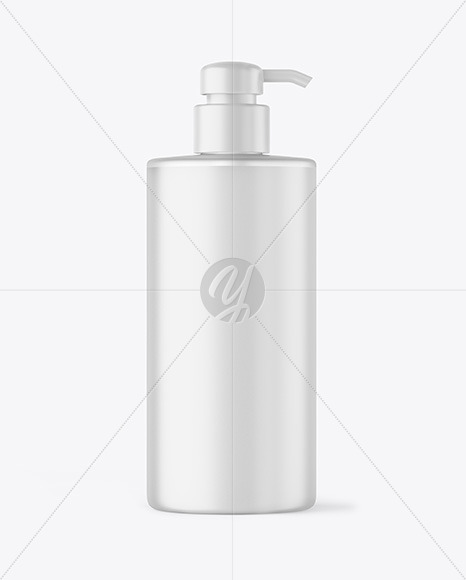 Frosted Liquid Soap Bottle with Pump