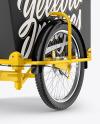 Cargo Bike Mockup - Back RightHalf Side View