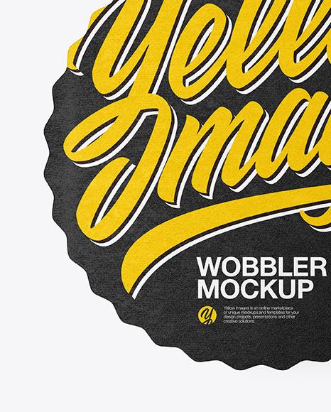 Textured Wobbler Mockup