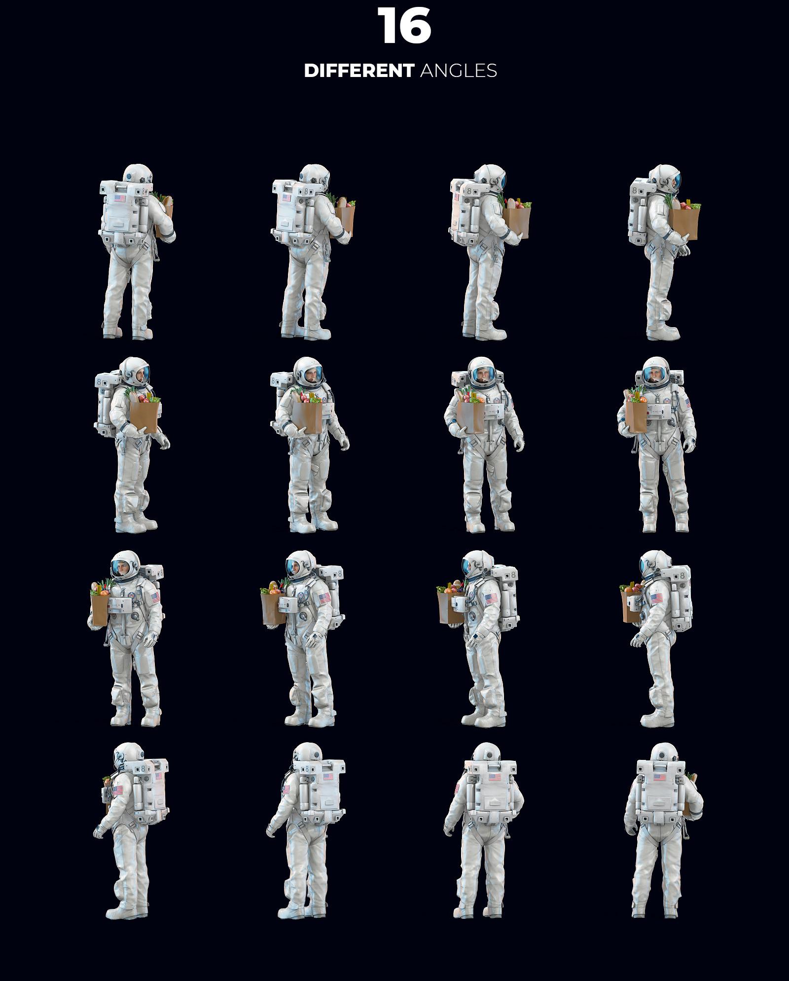 3D Mockup Space Astronaut #02