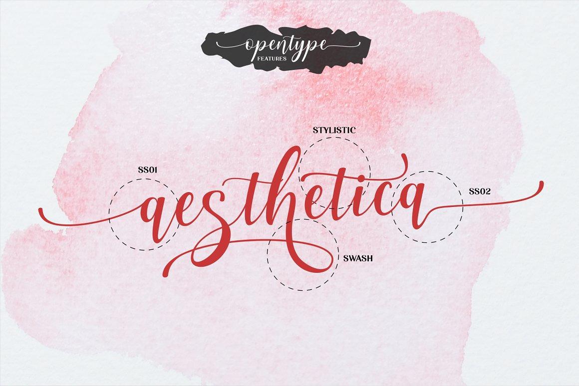 Aesthetica - Elegant bouncy font