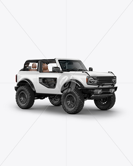 Off-Road SUV Open Roof Mockup - Half Side View - Yellowimages Mockups