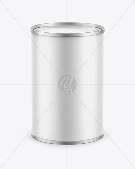 Download Tin Can w/ Matte Finish Mockup Free Mockups