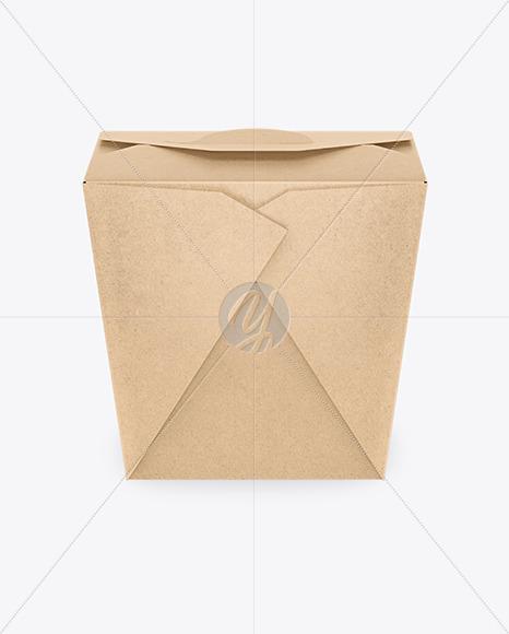Download Kraft Paper Noodles Box Mockup In Box Mockups On Yellow Images Object Mockups PSD Mockup Templates