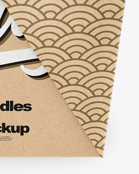 Download Kraft Paper Noodles Box Mockup In Box Mockups On Yellow Images Object Mockups