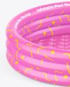 Inflatable 3-ring Pool w/ Inflatable Bottom Mockup - High Angle Shot
