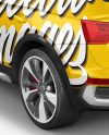 Crossover SUV Mockup – Back HalfSide View