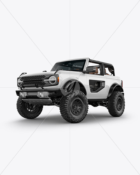 Off-Road SUV Open Roof Mockup - Half Side View (Hero Shot) - Yellowimages Mockups