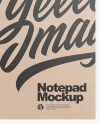 Kraft Notepad Mockup - Top View
