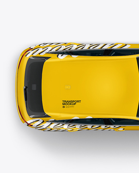 Crossover SUV Mockup – Top View