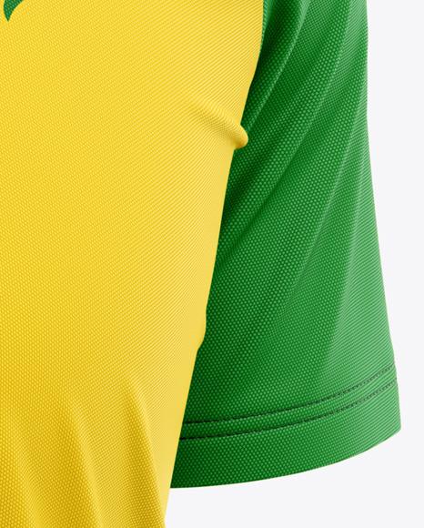 Men's Raglan Soccer Jersey Mockup - Front Half-Side View