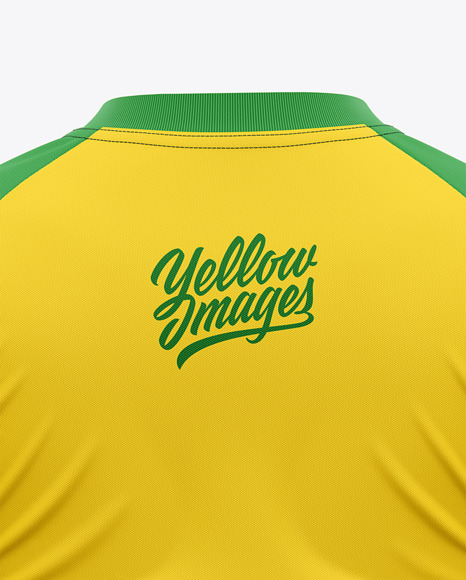 Men's Raglan Soccer Jersey Mockup - Back View