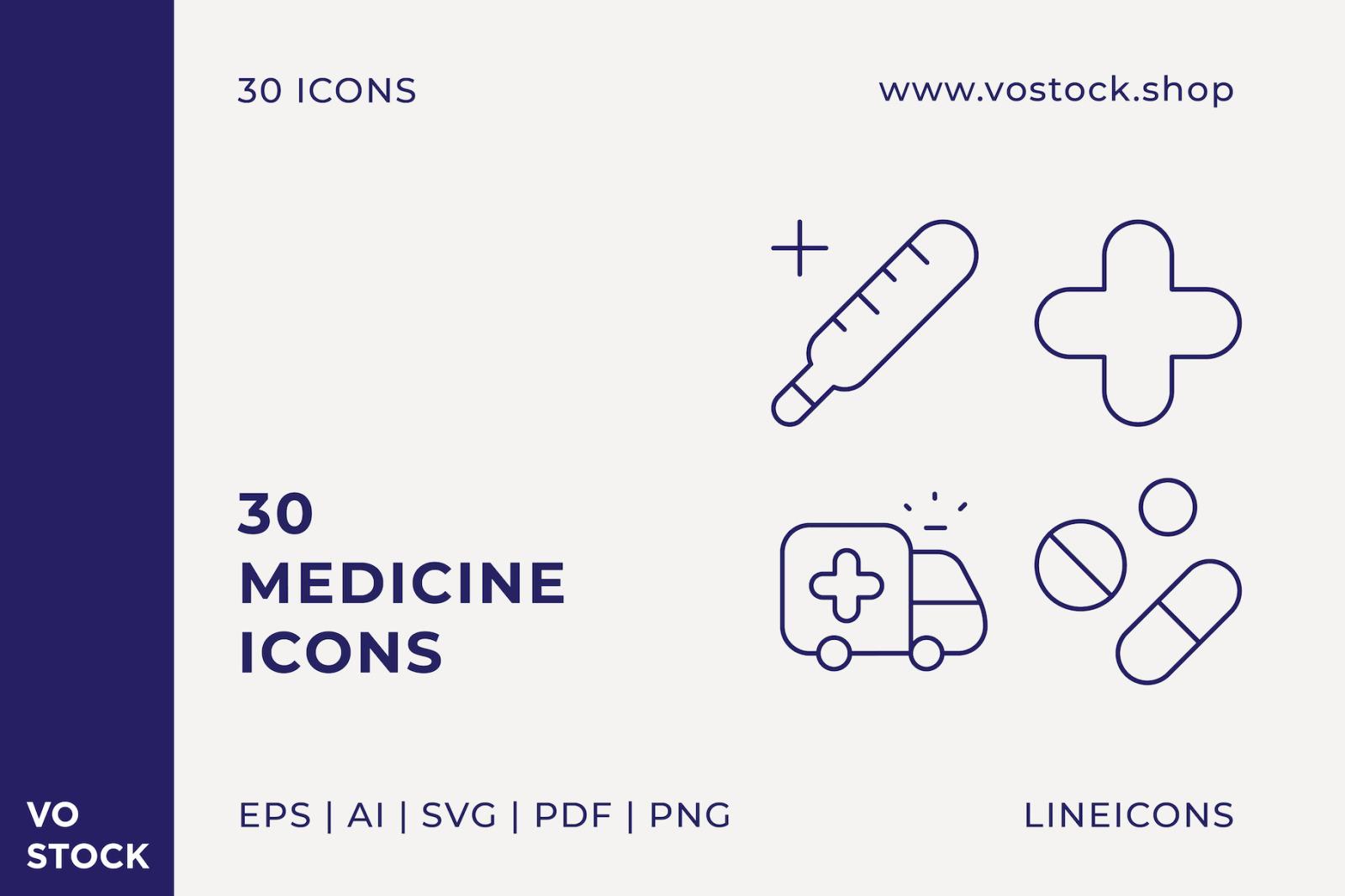 30 Medicine Icons