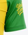 Men's Raglan Soccer Jersey Mockup - Front View
