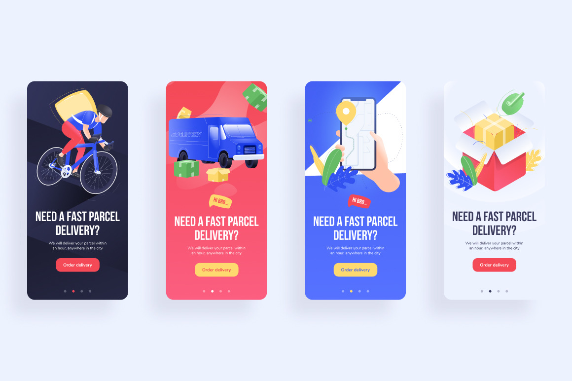 Delivery Illustration Pack / Web & Mobile - UI Kit
