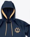 Pullover Hoodie/ Sublimated Hooded Sweatshirt - Top View
