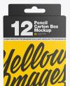 Pencil Box Mockup