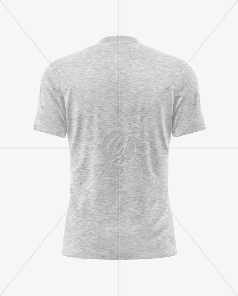 Download Melange Men S V Neck T Shirt Mockup In Apparel Mockups On Yellow Images Object Mockups PSD Mockup Templates