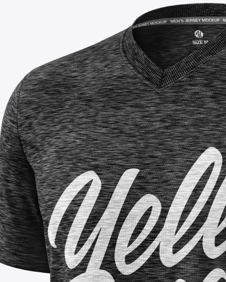 Melange Men's V-Neck T-Shirt Mockup