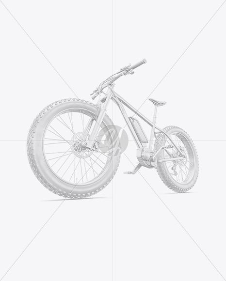 Fat Bike Mockup - Left Half Side View - Yellowimages Mockups