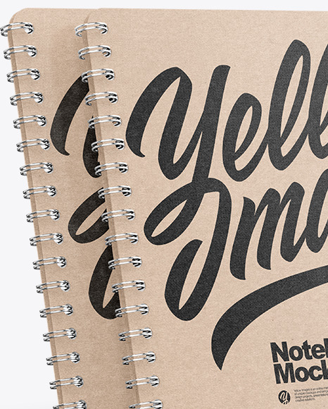 Spring Kraft Notebooks Mockup