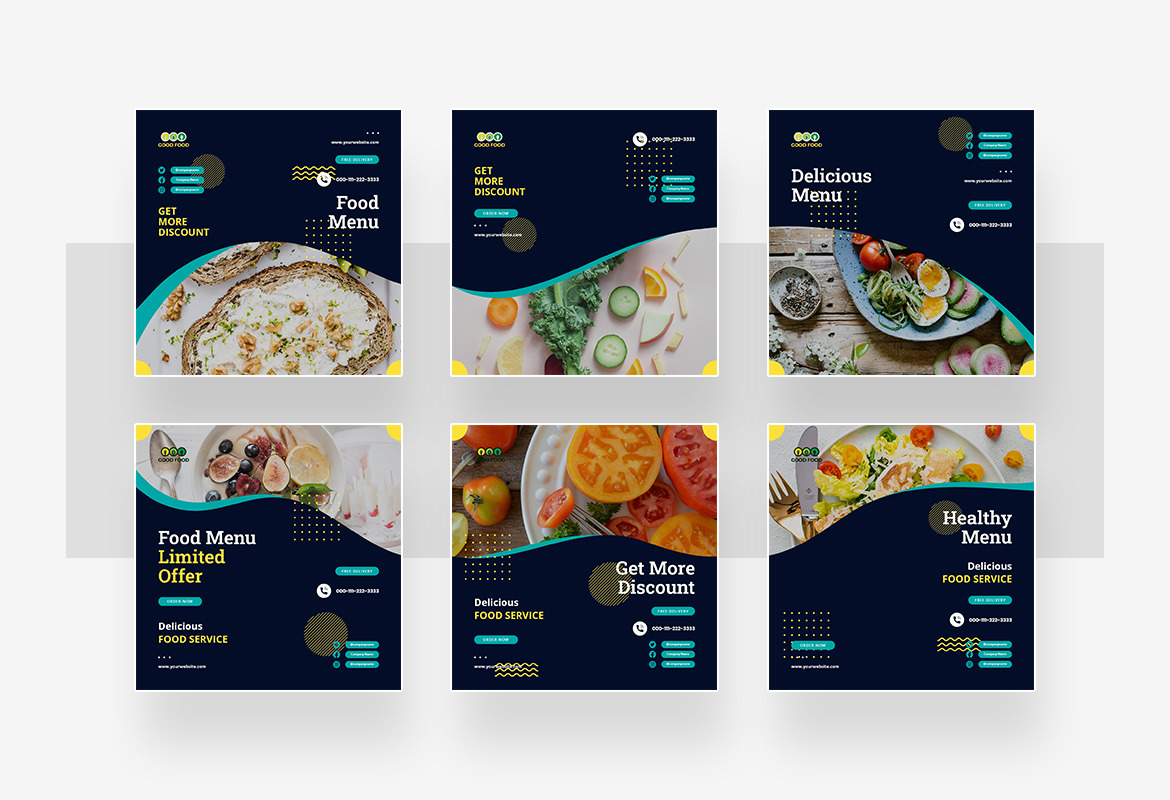 Healthy Food Instagram Post and Story Template