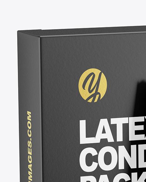 Matte Condom Packaging Mockup
