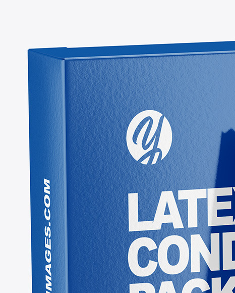 Glossy Condom Packaging Mockup