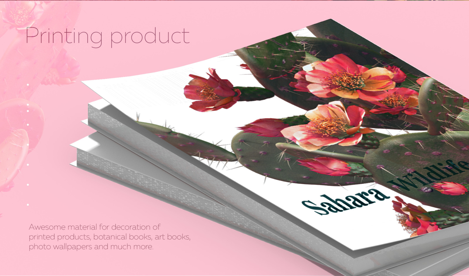 Sahara Flowers #02, 620 mockups + 53 patterns