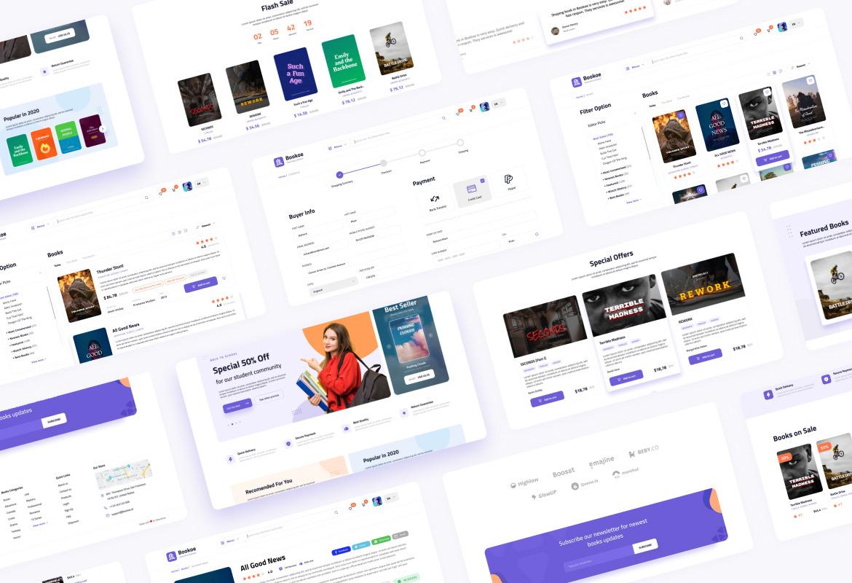 Bookoe - Book Store Website UI Design