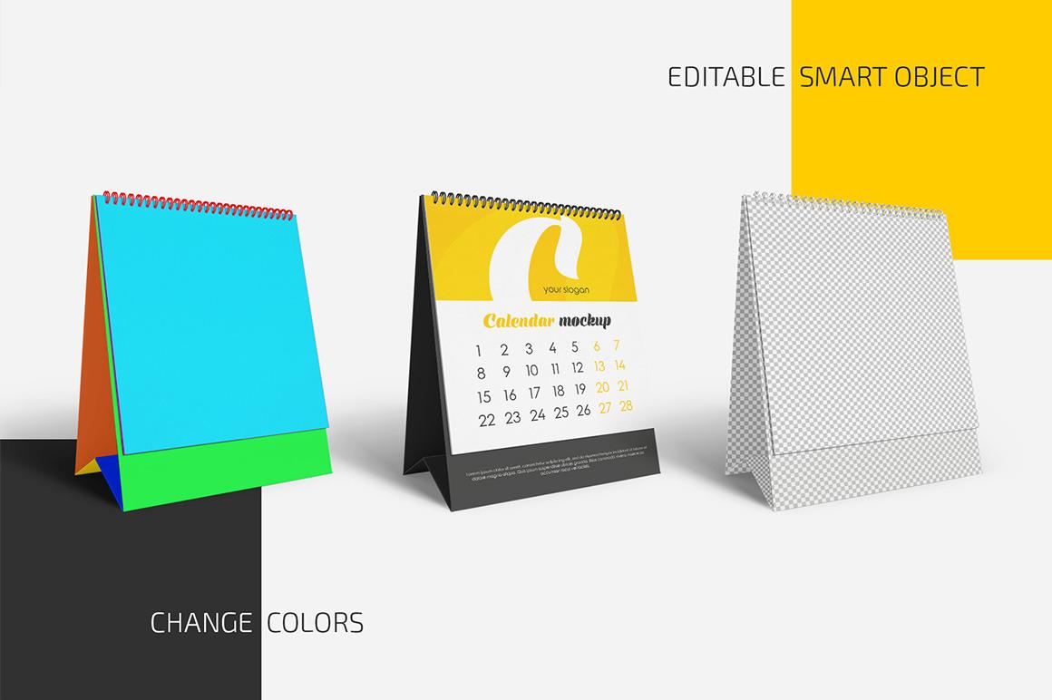 Desk Calendar v05 Mockup Set