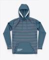 Heather Pullover Hoodie/ Hooded Sweatshirt - Top View