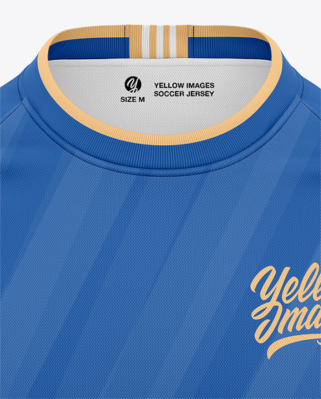 Long Sleeve Soccer Jersey Mockup - Front View