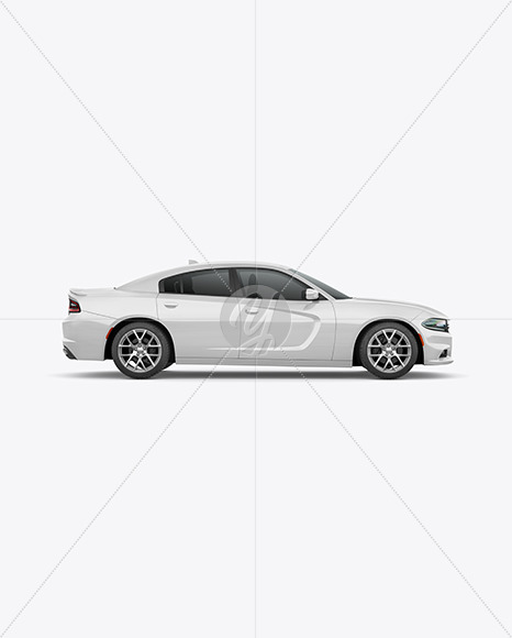 Muscle Car Mockup - Side View - Yellowimages Mockups