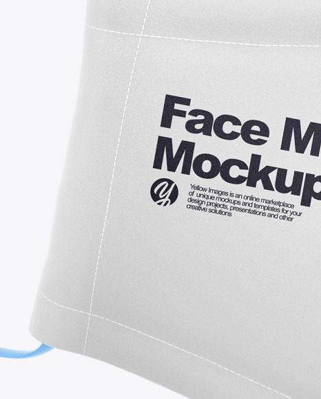 Face Mask with Strap Adjusters Mockup