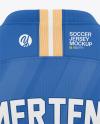 Long Sleeve Soccer Jersey Mockup - Back View